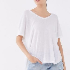 Out From Under Frankie Oversized White Thermal Tee